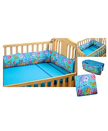Swayam Digitally Printed Reversible Cot Bumper Large - Marine
