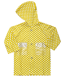 Babyhug Full Sleeves Raincoat Polka Dots - Yellow
