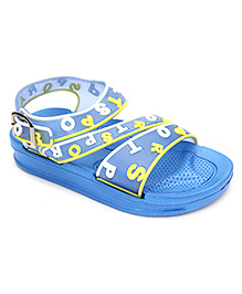 Cute Walk Sandal Style Clogs Strappy Design - Blue