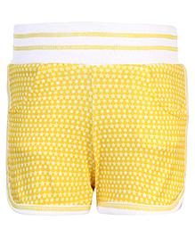 Little Kangaroos Star Print Shorts - Yellow