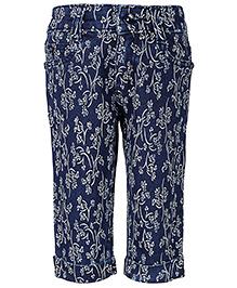 Babyhug Capri Floral Print - Blue