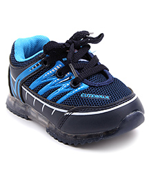 Cute Walk Sports Shoes Lace Up - Dark Blue
