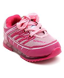 Cute Walk Sports Shoes Lace Up - Pinkish Plum