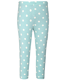United Colors of Benetton Leggings Dotted Print - Teal
