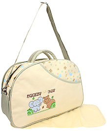 Mother Bag With Mat Sunny Day Embroidery - Cream
