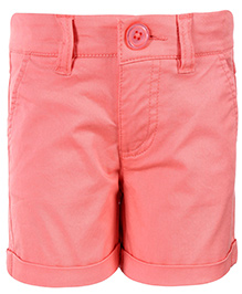 United Colors of Benetton Solid Shorts - Peach