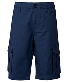 United Colors of Benetton 3/4th Shorts With Pockets - Navy