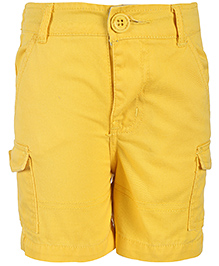 Baby League Twill Shorts With Pockets - Yellow