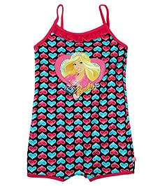 Barbie Singlet One Piece Legged Swimsuit - Multicolor