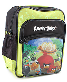 Angry Birds School Bag Green - 13 Inches
