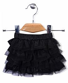 Babyhug Ruffled Party Wear Skirt - Black
