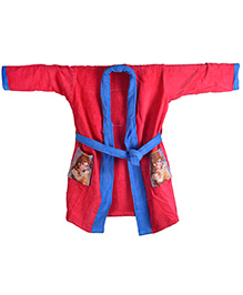 Disney Princess Full Sleeves Bathrobe - Red And Blue