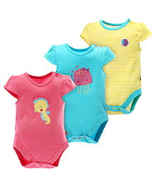 FS Mini Klub Set Of 3 Bodysuit With Print - Multicolor