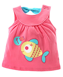 FS Mini Klub Sleeveless Tunic With Print - Pink