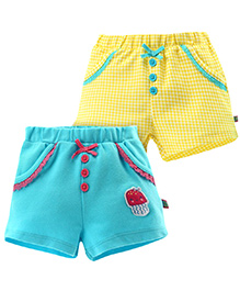 FS Mini Klub Shorts With Satin Bow - Yellow And Green