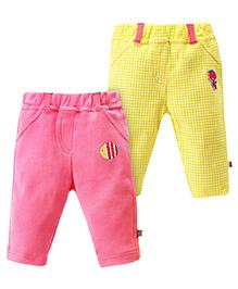 FS Mini Klub Full Length Legging Logo Patch Set Of 2 - Yellow And Pink