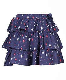 FS Mini Klub Layered Skirt Star Print - Navy