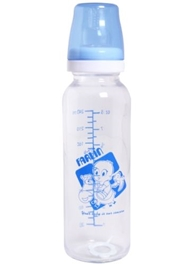 Farlin Glass Feeding Bottle Blue 240 Ml BPA Free And Environment Friendly Bottle