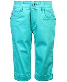 Babyhug Plain Capri - Turquoise