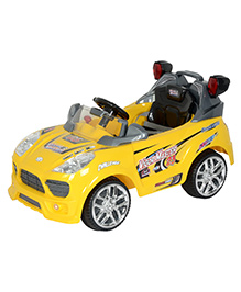 Toyhouse Super Rally Racer Car 6V Rechargeable Battery Operated Ride on Yellow