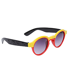 Kids Sunglasses Oval Frame - Red And Black
