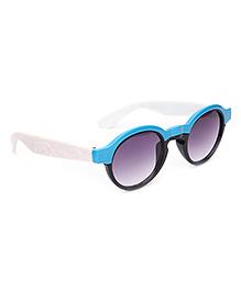 Kids Sunglasses Oval Frame - Blue And Black