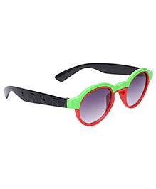 Kids Sunglasses Oval Frame - Green And Red