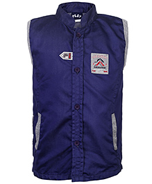 Little Kangaroos Sleeveless Shirt Submarine Patch - Navy Blue