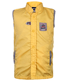 Little Kangaroos Sleeveless Shirt Submarine Patch - Yellow