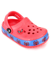 Spider Man Clogs Spidey Print - Red