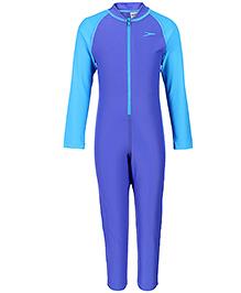 Speedo Full Length Legged Swimsuit - Deep Blue