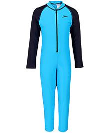 Speedo Full Length Legged Swimsuit - Blue And Navy