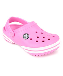 Crocs Clog With Back Strap - Light Pink And White