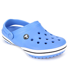 Crocs Clog With Back Strap - Light Blue And White