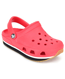 Crocs Retro Clog With Back Strap - Red And Black