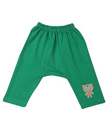 Babyhug Diaper Leggings Print On Solid Color - Green