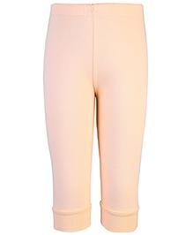 Babyhug Solid Pastel Color Leggings - Peach