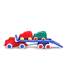 Viking Car Transporter Truck With 2 Cars - Red And Blue