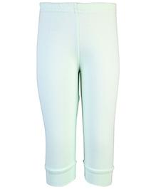 Babyhug Solid Pastel Color Leggings - Mint Green