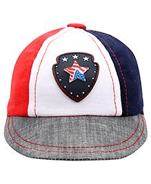 Babyhug Summer Cap Round Shape Star Patch - Multicolor
