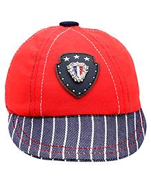 Babyhug Round Shape Summer Cap - Red