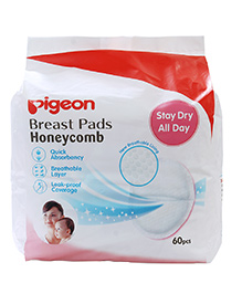 Pigeon Breast Pads Honeycomb - 60 Pieces