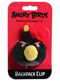 Angry Birds - Black Backpack Clip 3'' Without Sound