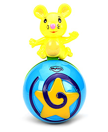 Mitashi SkyKidz Mouse Roly Poly Musical Ball - Blue Yellow