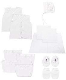Babyhug Newborn Clothing Set Pack Of 12 - White