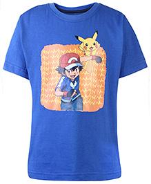 Pokemon Printed Half Sleeves T-Shirt - Royal Blue
