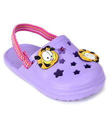 Garfield Clogs With Back Strap - Purple