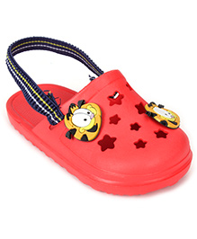 Garfield Clogs With Back Strap - Red