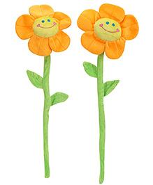 Sunflower Shaped Soft Toy Set of 2 - Orange