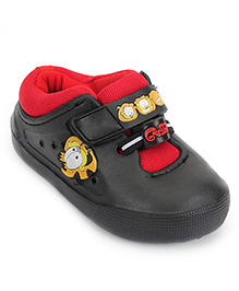 Garfield Casual Shoes Velcro Closure - Black And Red